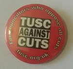 TUSC - For Councillors Whose Oppose All Cuts with website badge