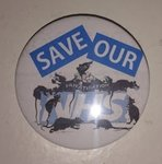 Save Our NHS - Privatisation Rats badge