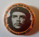 Che Guevara badge with quote